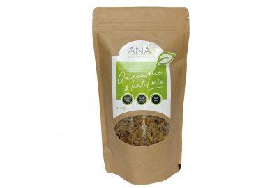 Quinoa rice and lentil mix